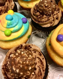 Roche and Unicorn Poop Cupcakes